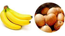 茶葉蛋與香蕉。(圖/翻攝網路)