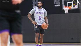 NBA/好消息!受傷詹皇練球照曝光 NBA,洛杉磯湖人,LeBron James,受傷 翻攝自湖人官方推特