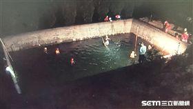 台中婦人墜蓄水池亡/翻攝畫面