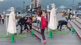 男遊客偷拍女街頭藝人裙底/臉書爆料公社