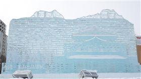 札幌雪祭台灣大型冰雕 提升國家形象台灣在札幌雪祭推出作品「台灣-玉山與高雄車站」,是展場中最大型的冰雕。中央社記者楊明珠札幌攝 108年2月4日