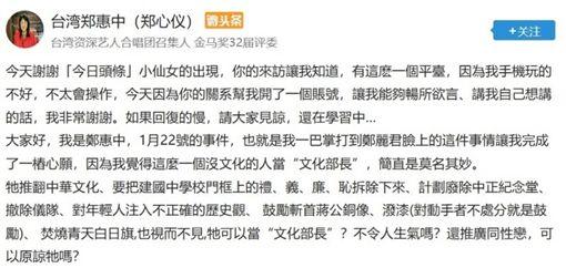 鄭惠中,鄭麗君,巴掌/翻攝自網路