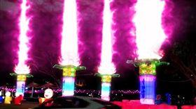 高雄燈會,金銀河,佛光山,蓮花,地對空光束砲 圖/翻攝自Keng Ping Lin臉書