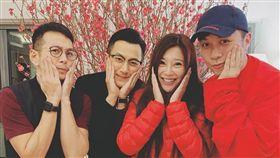 左起吳家樂、劉愷威、傅明憲、古巨基。(翻攝自傅明憲臉書)