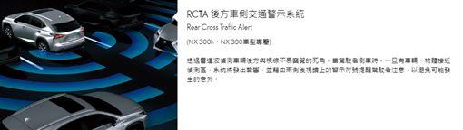 Lexus RCTA後方車側交通警示系統▲(圖/翻攝網路)