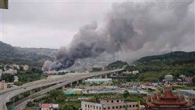 新北,八里,工廠,火警。翻攝畫面