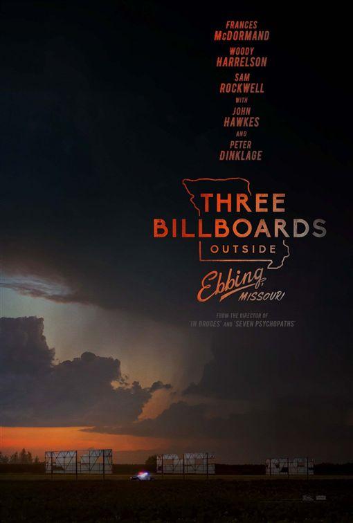 電影《意外(Three Billboards Outside Ebbing, Missouri)》。(圖/翻攝自福斯臉書)