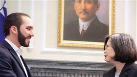 ▲薩爾瓦多總統當選人布格磊,2017年與中華民國總統蔡英文會面。(圖/翻攝自布格磊臉書)