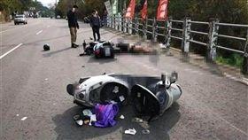 台中,上兵,車禍,超車,軍人(圖/翻攝畫面)