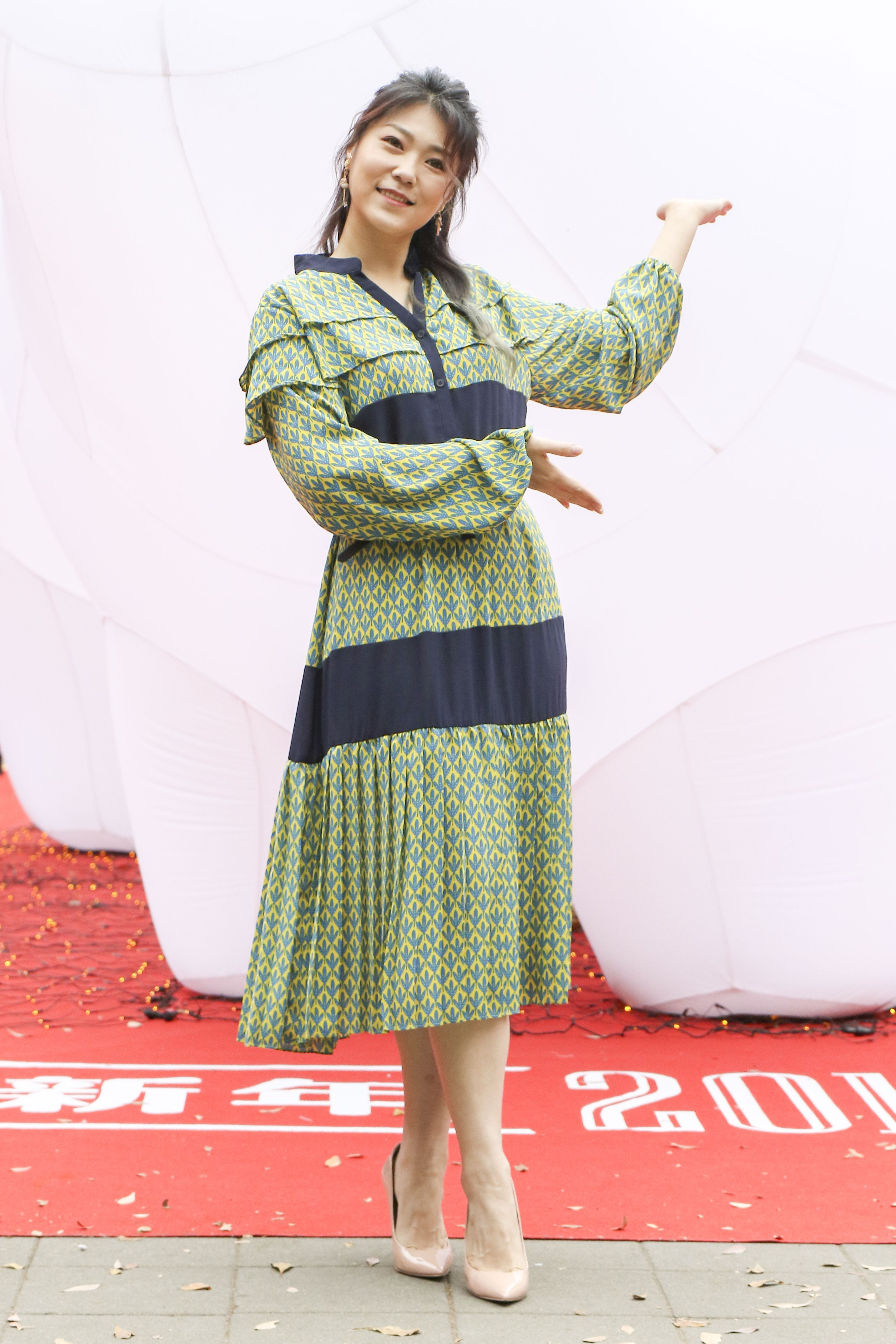 2019新光三越豬年燈展首度結合聲光秀點亮信義區,曹雅雯。(記者林士傑/攝影)