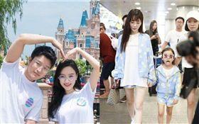 李小璐跟女兒甜馨到商場購物被路人目擊。微博