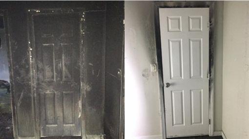 睡覺時記得關門,不幸發生火災或許能助你逃生。(圖/翻攝臉書)