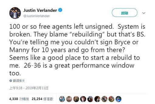 ▲韋蘭德在推特的發文。(圖/翻攝自韋蘭德推特)