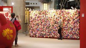 台北101浪漫花牆打卡  送限量玫瑰花台北101位於4樓的都會廣場花牆,情人節當天舉辦花牆打卡送一朵玫瑰花活動,101準備限量101朵玫瑰花,並蒐集101種語言的「我愛你」,浪漫之餘也增進冷知識。(101提供)中央社記者劉麗榮傳真  108年2月14日