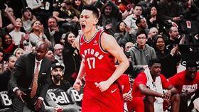 NBA/豪暴龍首秀 獲球迷熱烈歡迎 NBA,多龍多暴龍,林書豪 翻攝自推特