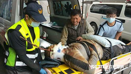 苗栗工安意外,男脖子遭鋼筋刺入