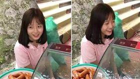 越南,香腸攤,正妹,少女,高中生,爆紅 翻攝臉書