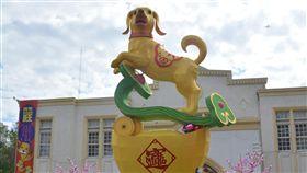 台灣彰化燈會狗來富花燈元宵節將至,在彰化市登場的台灣彰化燈會將展出6公尺高的狗來富花燈,祝福民眾財源廣進。中央社記者吳哲豪彰化攝 107年2月26日