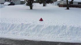 加拿大積雪(圖/翻攝自Toronto Firefighters推特)