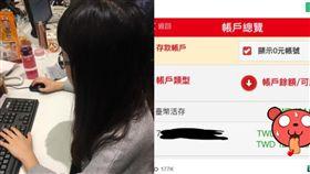 小資女秀「8位數」存款! 網看帳戶明細全哭了(圖/資料照、翻攝自批踢踢)