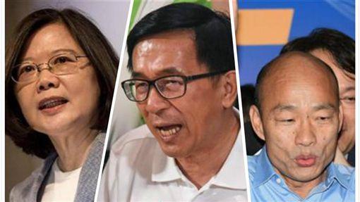 蔡英文,陳水扁,韓國瑜 合成圖/臉書、資料照、中央社