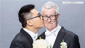 24歲愛上75歲英國老爹婚紗照/趙守泉授權提供
