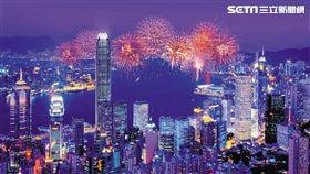 維多利亞港,香港,跨年煙火。(圖/港旅局提供)