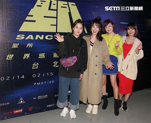 黃小柔(左起)、張艾亞、茵芙、張棋惠。。(圖/記者邱榮吉攝影)