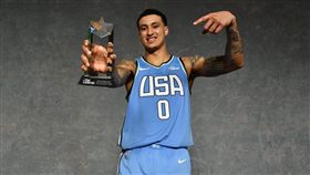 ▲湖人庫茲馬奪下新秀挑戰賽MVP。(圖/翻攝自推特)
