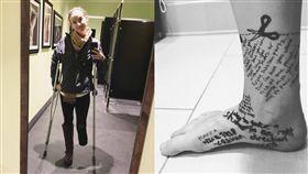 劇痛跟了14年…女堅強「畫剪刀」道別右腳 截肢重獲新生 圖翻攝自footlessjo  IG