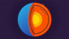 地球從外到內可分為地殼、地函和地核,其中地函又被一層神秘的過渡帶分為上下兩半部。(圖/翻攝普林斯頓大學網站)