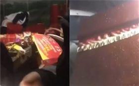 中國大陸,男開車衝進靈堂撞翻棺材(圖/翻攝自微博)