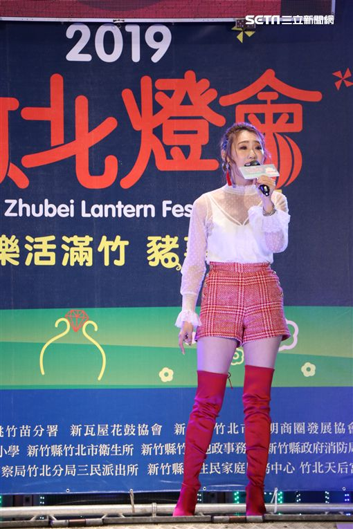 黃文星、楊繡惠、謝金晶、梅東生「2019竹北市元宵燈會暨天穿日」 圖/中視提供