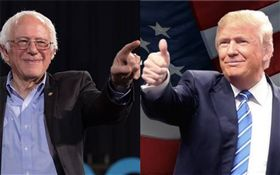 桑德斯,川普,左派,美國總統 (合成圖/翻攝自臉書)