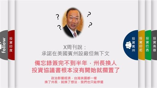郭台銘臉書