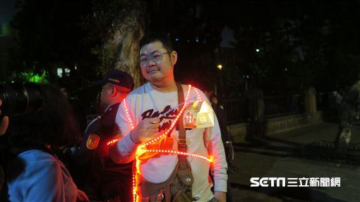 同志網紅「四叉貓」劉宇到場表達挺同立場。(圖/記者盧素梅攝影)