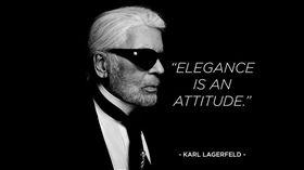 對卡爾拉格斐的形容「優雅是一種態度」