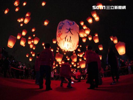 元宵節,平溪天燈(新北市觀光局提供)