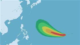 颱風蝴蝶生成 圖翻攝自中央氣象局