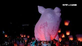 豬年慶元宵 5米高粉紅豬升空祈福
