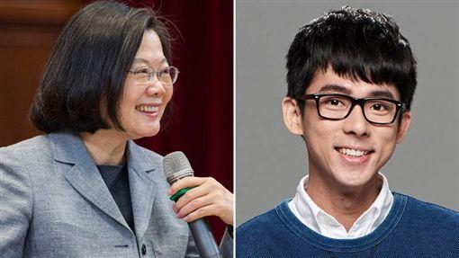 嘉義高中一名張姓老師,日前出了一道英文考題:「President Tsai-englishit made some silly ____in her speech(總統蔡英文在演講中發表愚蠢的_____)」,內容出現侮辱總統蔡英文的字眼。對此,蔡英文化身英文老師,以該題的答案「Comments」造句,沒想到釣出知名YouTuber阿滴的回應。(組圖/翻攝自蔡英文、阿滴臉書)