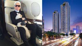 卡爾拉格斐(Karl Lagerfeld)、「忠泰老佛爺」/翻攝自KARL LAGERFELD臉書、忠泰建設官網