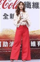 吳姍儒擔任可口可樂新產品試飲活動大使。(記者林士傑/攝影)
