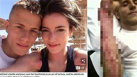 英國一名23歲男子斯基爾(Alex Skeel),遭女友沃絲(Jordan Worth)長期虐待6年,不管是刀刺、淋熱水他都經歷過。目前警方已將沃絲逮捕,斯基爾也勇於站出來,將他的經歷拍攝成紀錄片「我遭女友虐待」,呼籲外界不要漠視家暴、虐待問題。(組圖/翻攝自每日郵報、BBC)
