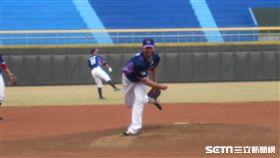▲Lamigo先發投手Zeke Spruill(史博威)春訓對樂天巨人先發。(圖/記者蕭保祥攝影)