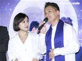 音樂劇「搭錯車」慶功記者會,主要演員丁噹、王柏森。(記者林士傑/攝影)