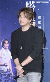 音樂劇「搭錯車」慶功記者會,主要演員蕭景鴻。(記者林士傑/攝影)