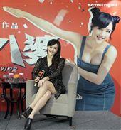 香港電影「恭喜八婆」女主角陳靜來台宣傳。(記者邱榮吉/攝影)