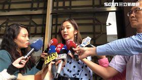 模特兒金莎到台北地檢署按鈴申告(楊忠翰攝)