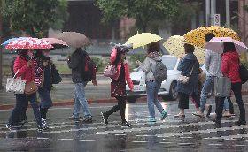 大陸冷氣團南下 北台灣低溫濕冷(1)
